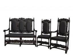 Gdański Salonik kanapa, fotel, krzesło. XIX wiek.