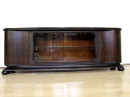 Orzechowa witryna- biblioteczka idealna pod rtv z barkiem.