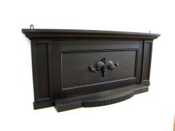 Rzeźbiona przedwojenna półka, nadstawa na komodę.