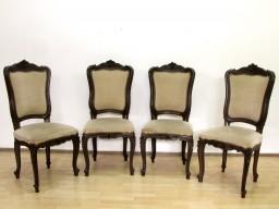 Wspaniale rzeźbione 100 letnie krzesła.
